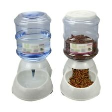 Gravity Pet Automatic Feeder Water Bowl Bottle Cat Dog Kitten Dry Food Dispenser
