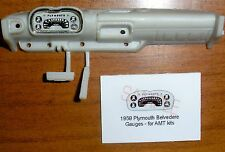 1958 PLYMOUTH BELVEDERE GAUGE FACES!-1/25 scale-for AMT KITS