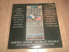 """V/A """" THE GREAT COUNTRY MUSIC SHOW """" 2 X VINYL LP EX/EX CASH SPEARS WHITMAN BARE"""