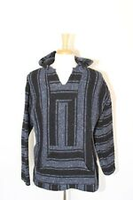 Baja Billy's Hoody Poncho Sweater Jacket Black Blue Size XL