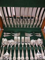 ORIGINAL ARTHUR PRICE 12 SET KINGS 72 PCE Silver Plate Cutlery Set 70s Smart Qua