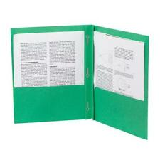 Lot of 100 Pieces - Ampad – Two-Pocket Folders with Clasp Fasteners – Green