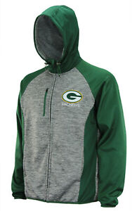 G-III Sports Men's NFL Green Bay Packers Solid Fleece Full Zip Hooded Jacket