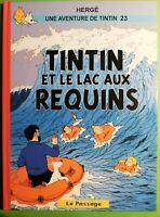 Pastiche Tintin. TINTIN  ET LE LAC AUX REQUINS.  Cartonné hors commerce