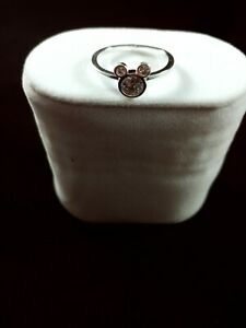 Womens Mickey Mouse Ring Silver
