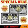 """2 Pieces 4""""X6"""" Led G3 Light Bulb Crystal Clear Sealed Beam Headlamp Headlight"""