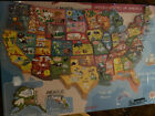 Janod Magnetic USA Map, 19.7-Inches x 13.4-Inches Factory Sealed