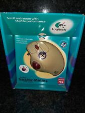 Vintage Logitech TrackMan Marble+ Wired Trackball Mouse Vintage