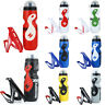 Portable Outdoor Cycling Bike 650ML/750ML Sports Bicycle Drink Water Bottle+Cage