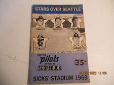 seattle pilots scorebook 1969