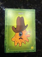 RARE PLANTS VS ZOMBIES STOP ZOMBIE MOUTH TRADING CARDS PUTRID POSSE CARD ROTT #2