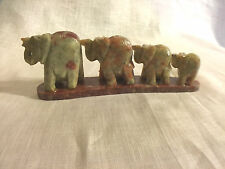 Soap Stone Elephants (Line) Incense Burner - Giftboxed