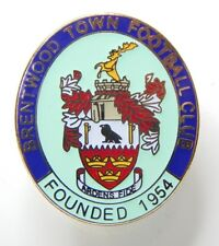 More details for brentwood town football club enamel badge non league football club  .