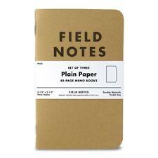 Field Notes Kraft Plain Paper 3-Pack Memo Books