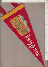 B567 Badlands South Dakota souvenir felt pennant Dillon Pass