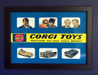 Corgi Toys 261 267 497 Bond Batman Uncle 1966 A4 Size Framed Poster Shop Sign