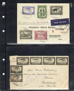Belgisch Belgian Congo Belge 8 air mail letters; 4 scans