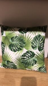leaf print cushion
