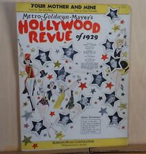 Your Mother And Mine  -1929 sheet music - from movie MGM Hollywood Revue of 1929