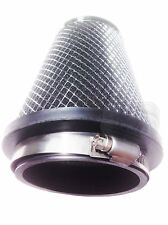 Car Engine Silver Mesh Induction Kit Air Filter Sports Cone Adaptors universal