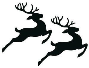 FLYING REINDEER SILHOUETTE DIE CUTS FOR CARD MAKING, CRAFTS & PROJECTS