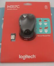 Logitech M317C Wireless Mouse With Mouse Pad (910-004981)
