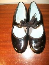 Tmpo by leo's Tap shoes 4 1/2 M Black patent leather girls