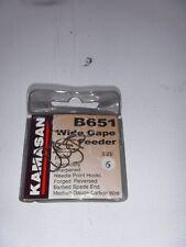 KAMASAN B651 WIDE GAPE FEEDER -sz6 fishing hook , chub meat !!!