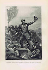 Marshal Pelissier at Storming of Malakoff - 1895 Photogravure