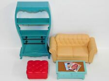 Barbie My Scene Lot from My Cafe: Sofa Cabinet Shelves Ottoman Table 2 Magazines