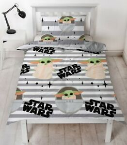 Star Wars The Mandalorian Single Duvet Cover Reversible Bedding Set Baby Yoda