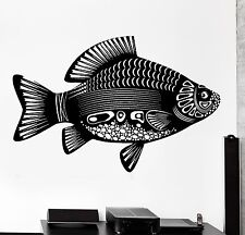 Wall Decal Fish Lake Sea Tribal Ornament Mural Vinyl Decal (z3169)