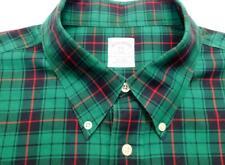 BROOKS BROTHERS Btn-Down Plaid Check Long Sleeve Shirt XXL