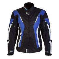 SPADA CURVE LADIES WATERPROOF MOTORCYCLE TEXTILE JACKET BLACK / BLUE - SALE