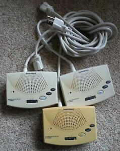 Set of 3 Radio Shack 43-3106 FM Mountable Wireless Intercom 2 Channel