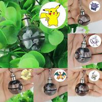 Crystal Ball Pokemon Pokeball Mewtwo 3D LED Night Light Key Ring Creative Gift