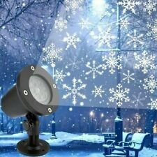 Outdoor Snowflake LED Light Moving Snow Laser Projector Garden Christmas Lamp