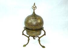 XXL Flacon with Lid Bronze Turkey Um 1900 Ottoman Rich Islamic