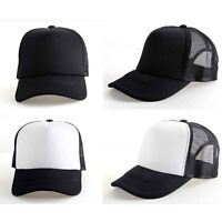 New Vintage Plain Trucker Mesh Hat Snapback Blank Baseball Cap Adjustable Hat.~.