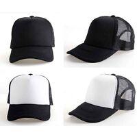 New Vintage Plain Trucker Mesh Hat Snapback Blank Baseball Cap Adjustable