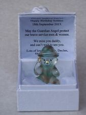 Soldier Poison Teddy bear@personalised Love verse@armed forces Box @ army@miss Papa