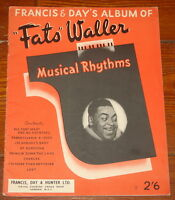 FATS WALLER ~ MUSICAL RHYTHMS ~ RARE ORIGINAL UK SONG MUSIC LYRIC BOOK 1943