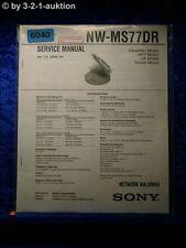Sony Service Manual NW MS77DR Network Walkman (#6040)