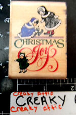 OLD FASHION CHRISTMAS JOY RUBBER STAMP STAMPEDE KIDS
