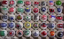 30 Railroad/ Railway logo marbles 1 inch size
