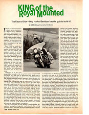 1970 HARLEY-DAVIDSON ELECTRA GLIDE  ~  CLASSIC ORIGINAL 2-PAGE ARTICLE AD