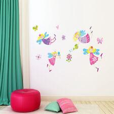 Vinilos decorativos infantiles hadas volando y flores. DOCLIICK DC-JM8330-17