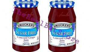 2 Smucker's Sugar Free Grape Jam 12.75 Ounce Jar