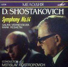 CD Shostakovich-Symphony No. 14, Rostropovich, Melodiya