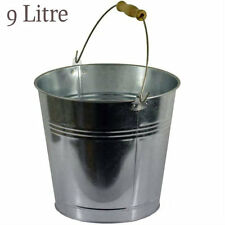 More details for 9l/12l/15l heavy duty galvanised steel metal bucket water coal fire wooden handl
